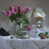 ...букет из роз с поэзией осенней... :: Валентина Колова