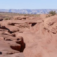 Вид пустыни при выходе из каньона Антилопа (Аризона, США) :: Юрий Поляков
