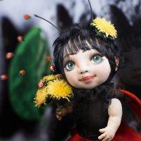 """Кукла """"Божья коровка"""" авторская работа. :: Лилия ."""