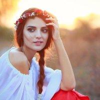 Теплый осенний закат! :: Елена Нор