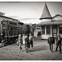 Станция Нью Хоуп и поезд с ней :: Олег Чемоданов