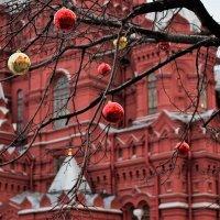 Листья опали, вешают шарики. :: Татьяна Помогалова