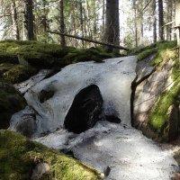 Небольшой водопад на острове :: Андрей