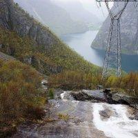 Фьорд, Водопад :: Елена Павлова (Смолова)