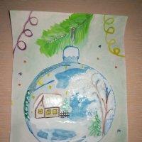 "Рисунок ""Новогодний шарик"" :: BoxerMak Mak"