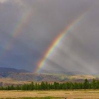 Двойная радуга в Курайской степи :: Стил Франс