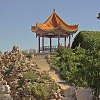 Беседка  для  медитаций  с  видом на отроги Тянь Шаня. :: Виталий Селиванов