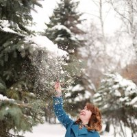Снежный дождик :: Светлана Каритун