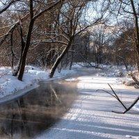 Речка замерзает... :: Владимир Безбородов