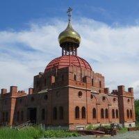 Строится Свято-Никольский собор в Белорецке :: Вера Щукина