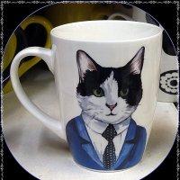 Кружка Кот с галстуком :: Вера