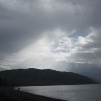 дождь на море Абхазия :: Владимир Булдыгин
