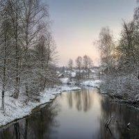 Зимний вечер на реке.. :: Александр Бархатов