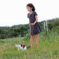 Девочка и кот :: венера чуйкова