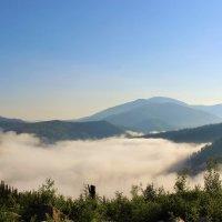 Густой туман скрывает долину :: Сергей Чиняев