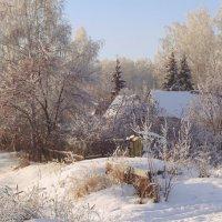 Нарисуй, художник мне, снежно — сказочную зиму,постарайся, чтоб красиво домик снегом заносило... :: Елена Ярова