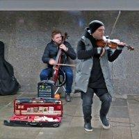 Скоро Новый год! (Экспрессия  скрипача зашкаливала!) :: Виталий Селиванов