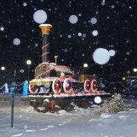 Снежный вечер на Турсибе. :: Валерий Медведев