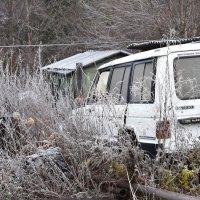 Заброшенный джип в заброшенной деревне :: Евгений Меринов