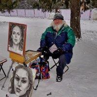 Не мог пройти мимо колоритной внешности художника. :: Пётр Сесекин