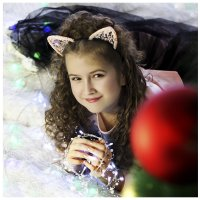 милая кошечка встречает год собаки))) :: Елена ПаФОС