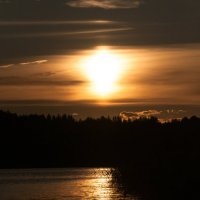 закат на озере :: Даниил pri (DAROF@P) pri
