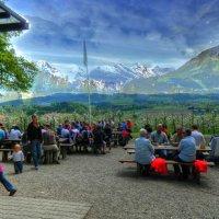 ресторан с видом на Альпы :: Александр Корчемный