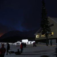 Полярная ночь над Хибинами :: Ольга