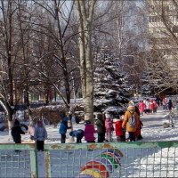 Детсадовцы на прогулке :: Нина Корешкова