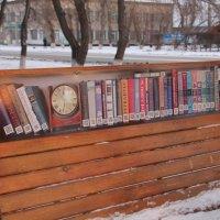 Возле библиотеки :: Олег Афанасьевич Сергеев
