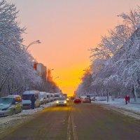 Зимний вечер...в Кишинёве :: Леонид Школьный
