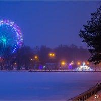 Зимний вечер в парке :: Михаил Волков