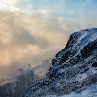Вид с горы на парящий Енисей :: Татьяна Афанасьева