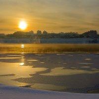 Закат над рекой Ангарой. :: Ричард Петров