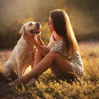 девушка с собакой :: Валерия Мороз