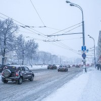 Москва. Снегопад. :: Игорь Герман