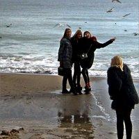 На фоне моря в окружении птиц ) :: Людмила