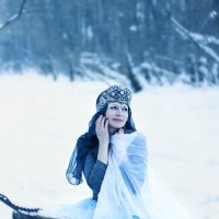 И снится небу снег..снег..снег..зима за облаками..) :: Елена Прихожай
