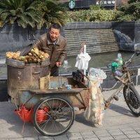 Продавец печёной картошки. Шанхай :: Владимир Леликов