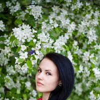 В яблонях :: Дарья Тихонова