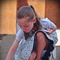 девочка и мел :: Natalia Mihailova