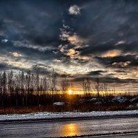 Рассвет на Третьем Бадаевском проезде Шушары :: Юрий Плеханов