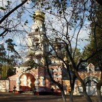 Преображенский храм в селе Лукине, который со всех сторон обнесли патриаршими постройками :: Елена Павлова (Смолова)