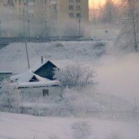 Морозное туманное утро. :: Сергей l