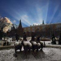 Весеннее пробуждение, Александровский Сад в Москве :: Борис Соловьев