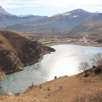 Вид на озеро Гижгит :: Светлана Попова