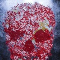 Цветочный череп ... :: Лариса Корженевская