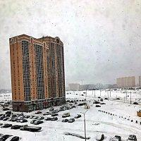 Так  выглядел  занесённый снегом новый район  г.. Обнинска  сегодня. :: Виталий Селиванов