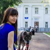 Прогулка с собакой :: Ксения ПЕН