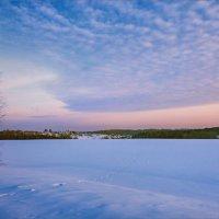 Нежный, розовый закат... :: Александр Никитинский